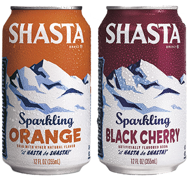 Shasta Classics Orange and Black Cherry